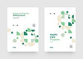 Vector layout design template for medicine. A4 size.