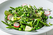 Fresh and green salad as healthy food.