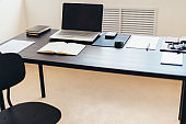 Office work table vacant position No people