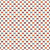 Seamless pattern with vertical braid ornament. Octagons tile surface background. Modern style abstract wallpaper.