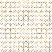 Watercolor seamless pattern with vintage retro beige repeat branches with leaves