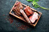 Set meat cured