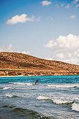 Kite surfer on Rhodes, Greece