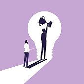 Metaphor of creativity to Success concept