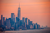Manhattan sunset, New York City