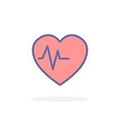 Heartbeat icon in filled outline style.
