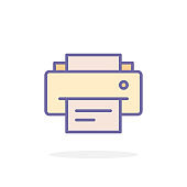 Fax icon in filled outline style.