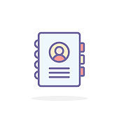 Address book icon in filled outline style.