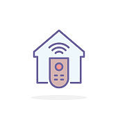 Remote control icon in filled outline style.