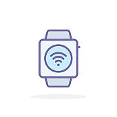 Smart watch icon in filled outline style.