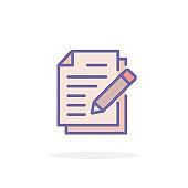 Document icon in filled outline style.
