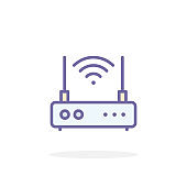Wireless router icon in filled outline style.