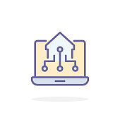 Home control icon in filled outline style.