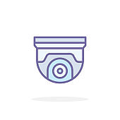 Security camera icon in filled outline style.