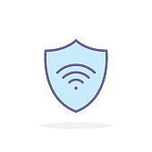 Private network icon in filled outline style.