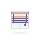 Blinds icon in filled outline style.