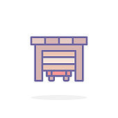 Garage icon in filled outline style.