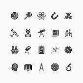 Set of science icons.