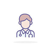 Doctor icon in filled outline style.
