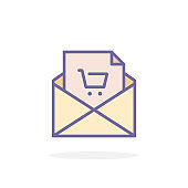 Email marketing icon in filled outline style.