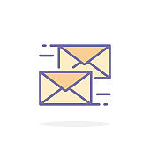Send message icon in filled outline style.