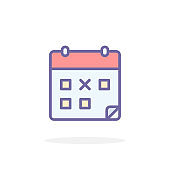 Calendar icon in filled outline style.