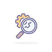 Seo icon in filled outline style.