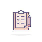 Checklist icon in filled outline style.