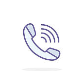 Call phone icon in filled outline style.