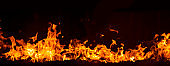 Background image of the flame burning red