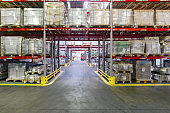 Finished goods warehouse, metal profile packed in bundles