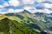 Landscape of the Western Tatras in Poland. Mountain landscape.