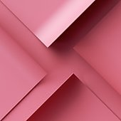 3d render. Abstract geometric background with pieces of pink paper
