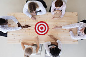 Business team and target