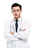 A young male doctor portrait
