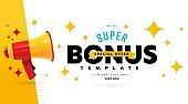Banner template advertising super bonus on final sale