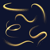 Magician light. Spiral glowing effects with sparks abstracts spirals and ring glow shapes decent vector realistic illustratioins