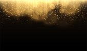 Gold glittering star dust lights