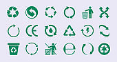 Renew circles. Diversity images recycle round icons save nature garish vector ecology green collection
