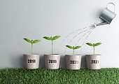 Business financial yearly growth concept