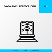 logistics transportation Train icon. Logistics process 64x64 pixel perfect icon