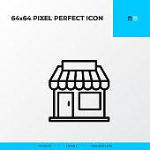 Store icon. Logistics process 64x64 pixel perfect icon