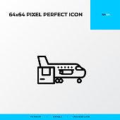 logistics transportation Plane icon. Logistics process 64x64 pixel perfect icon