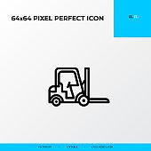forklift icon. Logistics process 64x64 pixel perfect icon