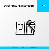 Purchase product icon. Logistics process 64x64 pixel perfect icon