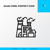 factory icon. Logistics process 64x64 pixel perfect icon
