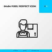 Supplier icon. Logistics process 64x64 pixel perfect icon