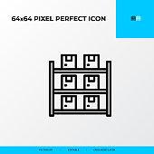 Inventory icon. Logistics process 64x64 pixel perfect icon