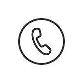 Phone icon in trendy flat style isolated on white background. Telephone symbol.