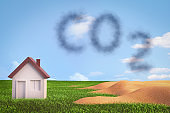 CO2 and greenhouse effect concept